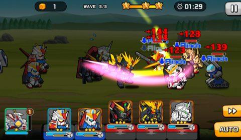 สงครามใหม่ของเหล่ากันดั้มจิ๋ว Line : Gundam Wars เปิดให้บริการแล้ววันนี้