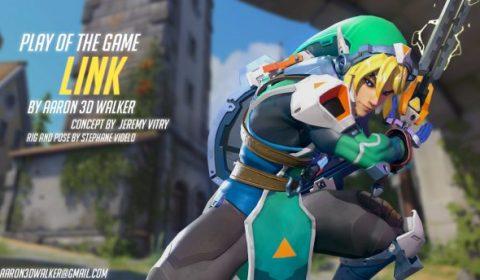 ภาพการออกแบบ Link ตัวละคร Unofficial Hero ของ Overwatch ที่สมบูรณ์จนอยากได้มาเป็นฮีโร่ในเกมจริงๆ!