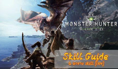 [Monster Hunter World] มาบิ้วท์ Skill กัน (พร้อมตาราง Skill แปลไทย)