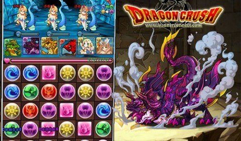 Dragon Crush เกมมือถือใหม่เรียงเพชรผสมการผจญภัย