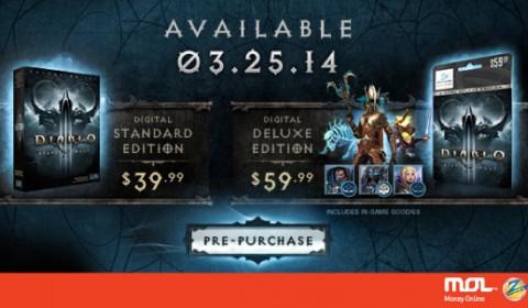 ซื้อ Diablo® III Reaper of Souls ด้วย MOLPoints ก่อนใครได้แล้ววันนี้