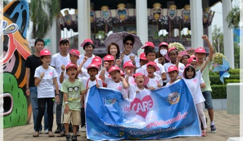 Ini3 We Care จับมือแชมป์ Elympic Summer Cup 2014 มอบความสุขให้น้องๆ มูลนิธิบ้านนกขมิ้น