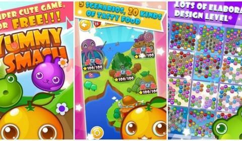 Yummy Smash เกมแนว Puzzle ฟรุ้งฟริ้งสุดน่ารักบนมือถือ