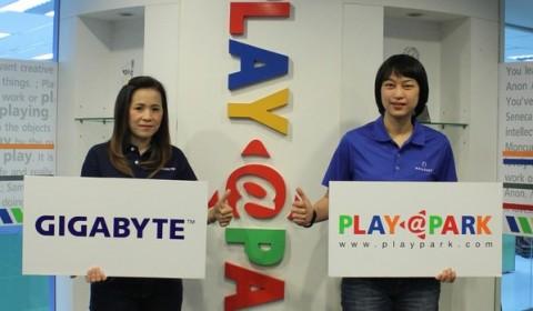 Playpark จับมือ Gigabyte ผนึกกำลังเปิดสมรภูมิเดือดแห่งปี Playpark Fan Fest 2014 by Gigabyte