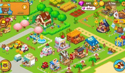 เปิดแล้ว! LINE บราวน์ฟาร์ม เกมฟาร์มบนมือถือจาก LINE สนุกไปกับหมีบราวน์กว่า 50 แบบ