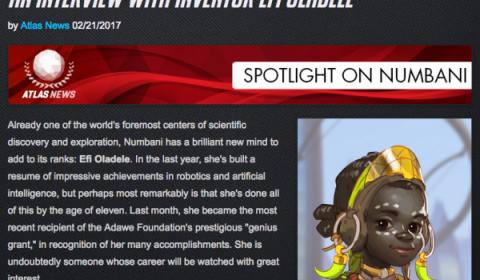 เกม Overwatch อาจมีฮีโร่ตัวใหม่ วัย 11 ขวบ! ที่ชื่อว่า Efi Oladele (ข่าวลือ)