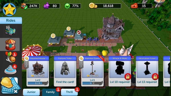 Review Mobile Game) RollerCoaster Tycoon Touch : สร้างสวน