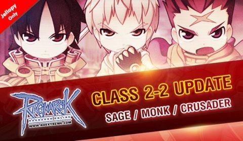 อัพเดทใหม่ ROEXE เพิ่มตัวละครคลาส 2-2 เข้าสู่เซิร์ฟเวอร์ Jellopy เริ่มด้วย3 อาชีพแรก Sage, Monk และ Crusader