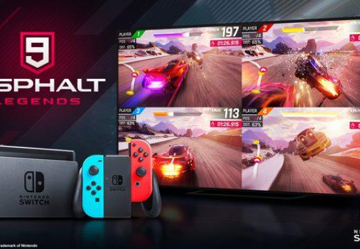 Asphalt 9: Legends บนเครื่อง Nintendo Switch มียอดดาวน์โหลดถึง 1 ล้านโหลด ในอาทิตย์แรก