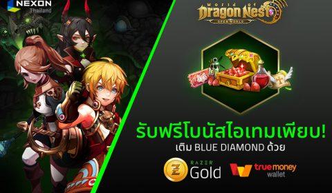 World of Dragon Nest ร่วมกับ Razer Gold แจกโบนัสไอเทมเพียบ!