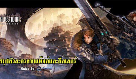 (Guide) Heroes War: Counterattack สรุปความน่าใช้ของตัวละคร สายแท้งค์และดีลเลอร์