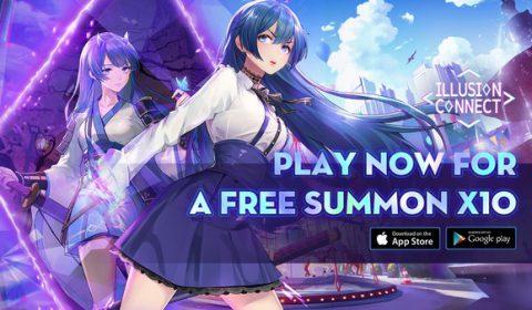 Illusion Connect เกมมือถือแนวกลยุทธ์ RPG โชโจใหม่ล่าสุด ฉลองการเปิดตัวบน iOS และ Android ด้วยกิจกรรมสุดยิ่งใหญ่